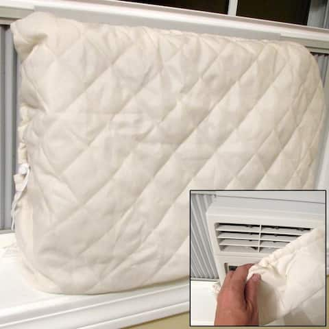 Evelots Window Air Conditioner Cover-Indoor-Quilted-Heat Stays In-Cold Air Out - Set of 1