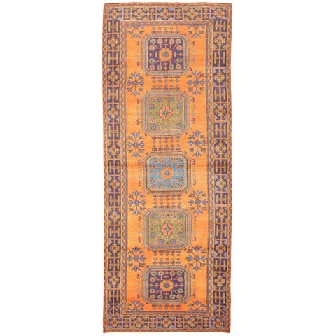 Hand-knotted Konya Anatolian Copper Rug - ECARPETGALLERY - 4'2 x 10'10