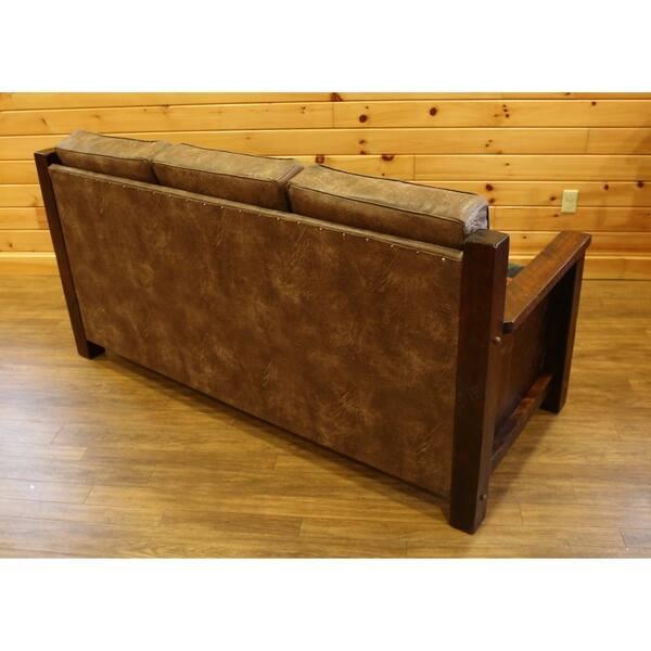 Barnwood Style Timber Peg Sofa