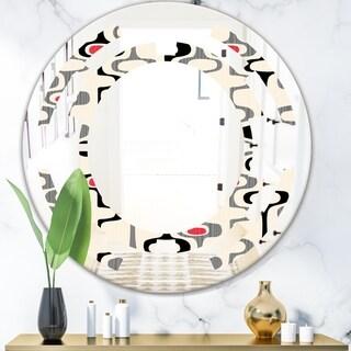 Designart 'Retro Abstract Design IX' Modern Round or Oval Wall Mirror - Space