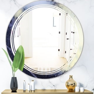 Designart 'Moss Agate bush' Modern Round or Oval Wall Mirror - Triple C