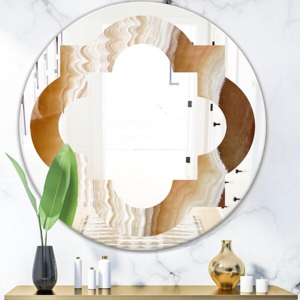 Designart 'Marbled Geode 3' Modern Round or Oval Wall Mirror - Quatrefoil