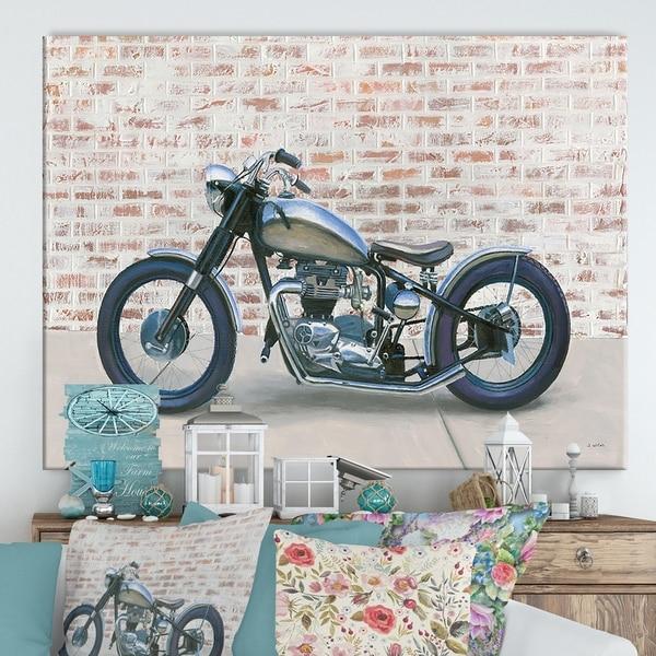 Designart 'RW Lets Roll II' Cottage Canvas Wall Art