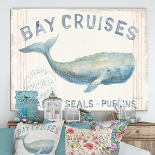 Designart 'RW Floursack Nautical I' Cottage Canvas Wall Art