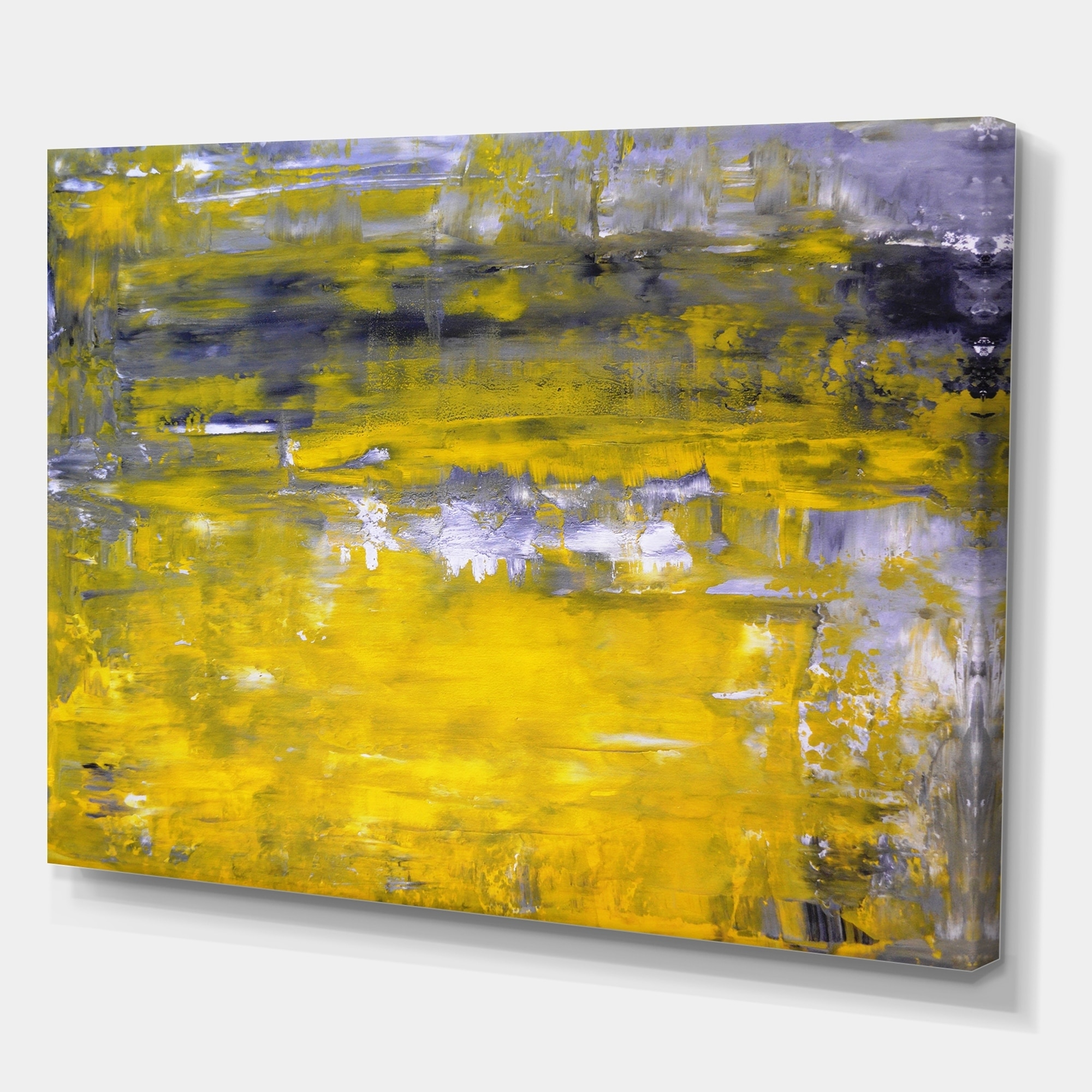 Yellow Abstract Art Painting Modern