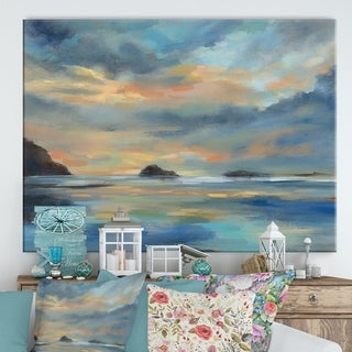Designart ' Pacific Sunset' Cottage Canvas Wall Art