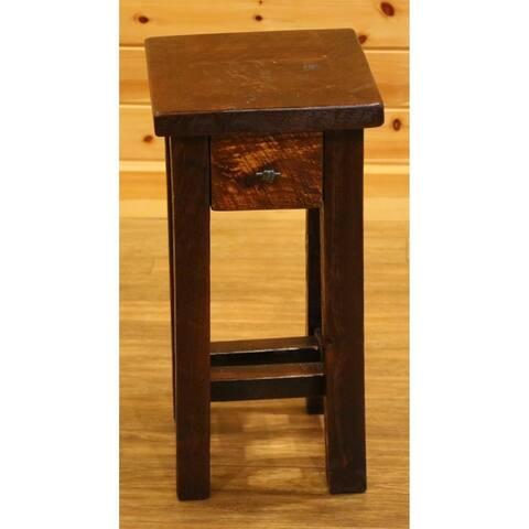 Barnwood Style Timber Peg - Small Nightstand/End Table