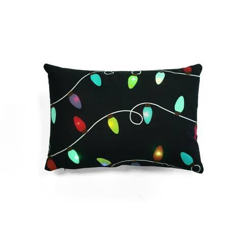 Lush Decor Christmas Led Light Decorative Throw Pillow