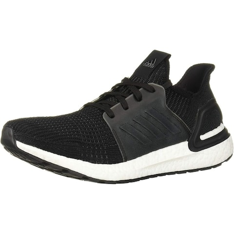 adidas Mens Ultraboost 19 Running Shoe - Black/White - Size 10
