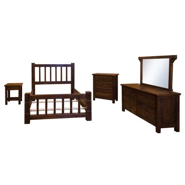 Barnwood Style Timber Peg - Mission Bedroom Set