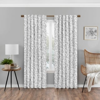Link to Eclipse Nora Botanical Print Absolute Zero Blackout Window Panel Similar Items in Blackout Curtains