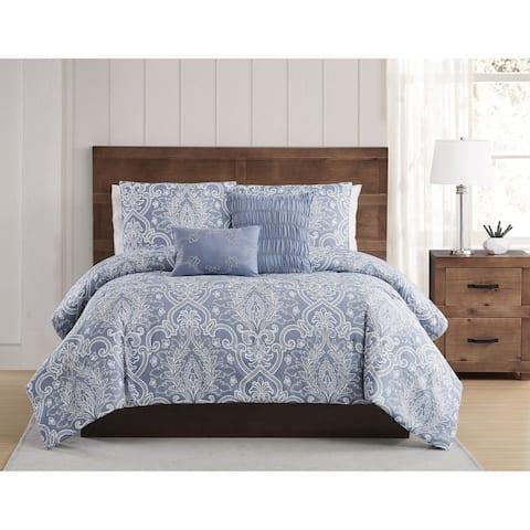 Style 212 Justine Seersucker 5 Piece Comforter Set