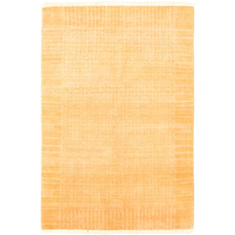 Hand-knotted Peshawar Ziegler Copper Wool Rug