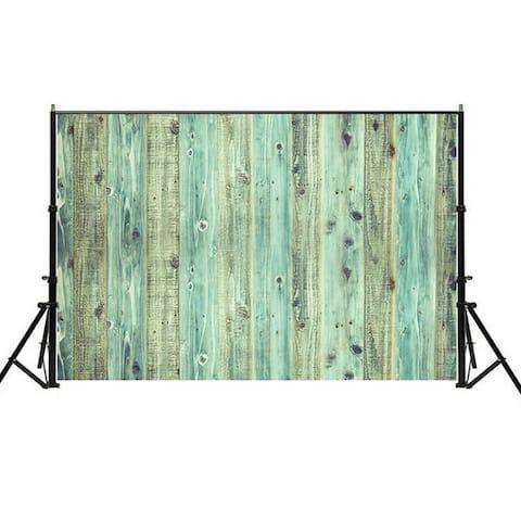 Photography Backdrop Studio Photo Prop 5' x 7' Lake Green Wood Grain