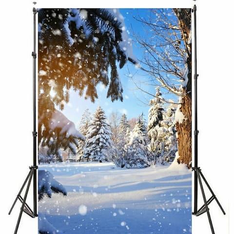 Photography Backdrop Studio Photo Prop 5' x 7' Christmas Snow 3