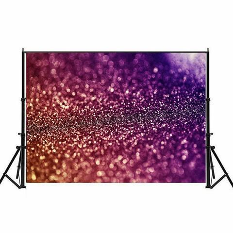 Photography Backdrop Studio Photo Prop 5'x7' Gradient Purple Glitter