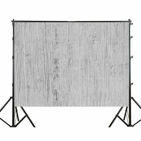 Photography Backdrop Studio Photo Prop 5' x 7' Gray Florals
