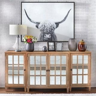 Lifestorey Matteo 3-Piece Mirrored Cabinet Set