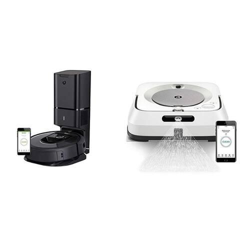 iRobot Roomba i7 Plus Robot Vacuum with Braava Jet M6 Ultimate Robot Mop