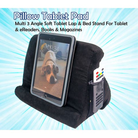 Multi-Angle Soft Pillow Stand Holder - Universal Phone and Tablet Stand and Holder Used on Bed, Floor, Desk, Lap, Sofa, Couch