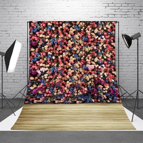 Photography Backdrop Studio Photo Prop 5' x 7' Colorful Flowers