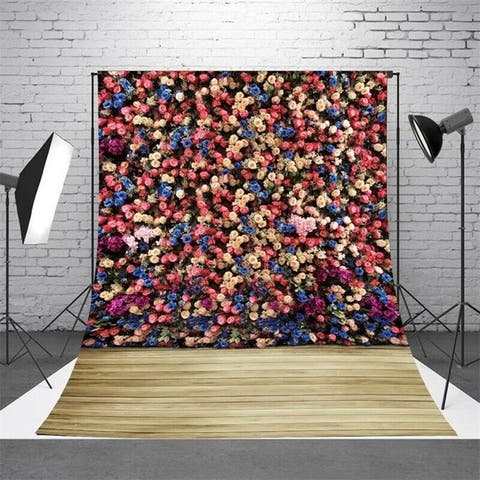 Photography Backdrop Studio Photo Prop 5' x 7' Colorful Flowers