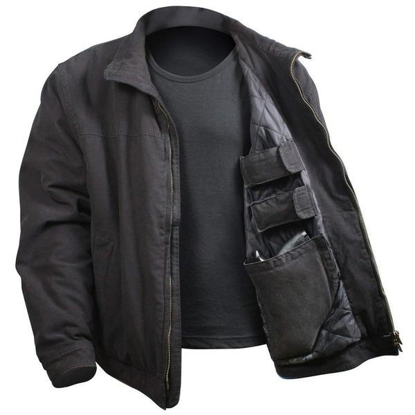 Rothco 3 Season Concealed Carry Jacket - Black - Large - 5385-BLACK-L