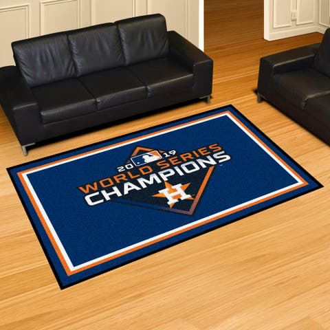 Houston Astros 2019 World Series Champions Plush 5ft x 8ft Area Rug - 5' x 8'/Surplus