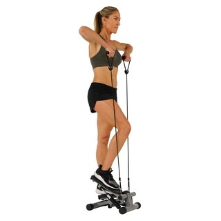 Mini Stepper with Resistance Bands - Black
