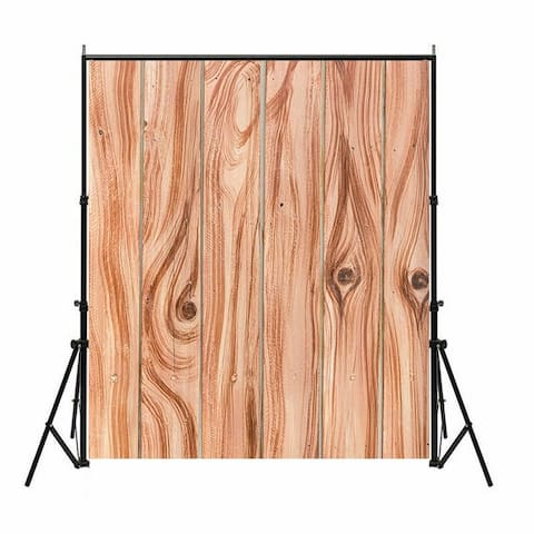 Photography Backdrop Studio Photo Prop 5' x 7' Brown Wood Grain