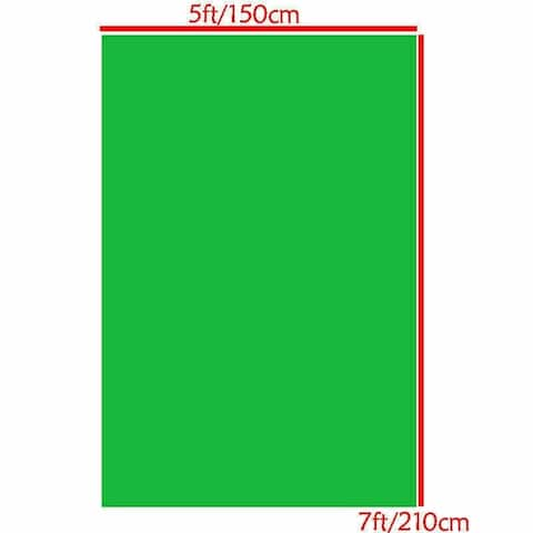 Photography Backdrop Studio Photo Prop 5' x 7' Solid Green