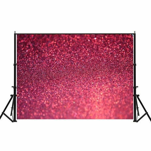 Photography Backdrop Studio Photo Prop 5' x 7' Dark Pink Glitter 1