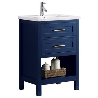 "Elina 24"" Single Sink Vanity In Blue"