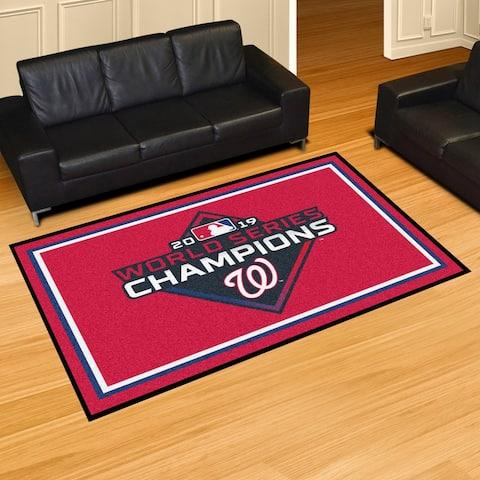 Washington Nationals 2019 World Series Champions Plush 5ft x 8ft Area Rug - 5' x 8'/Surplus