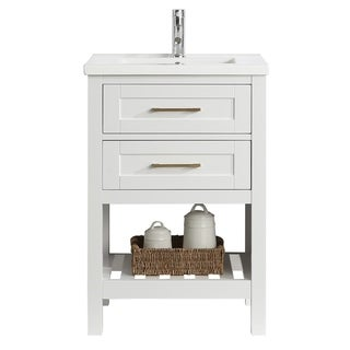 "Elina 24"" Single Sink Vanity In White"