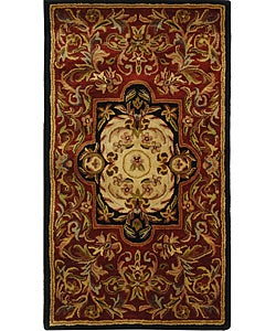 Safavieh Handmade Classic Royal Red/ Black Wool Runner (2'3 x 4')