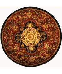 Safavieh Handmade Classic Royal Red/ Black Wool Rug - 3'6