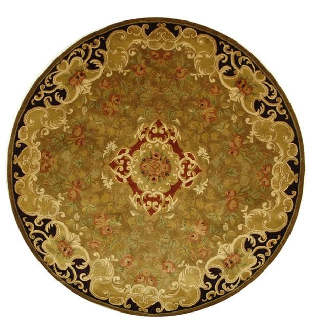 Safavieh Handmade Classic Juliette Gold Wool Rug (3'6 Round)