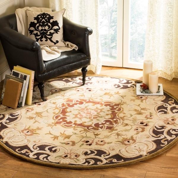 Safavieh Handmade Classic Juliette Gold Wool Rug (3'6 Round) - 3'6 Round