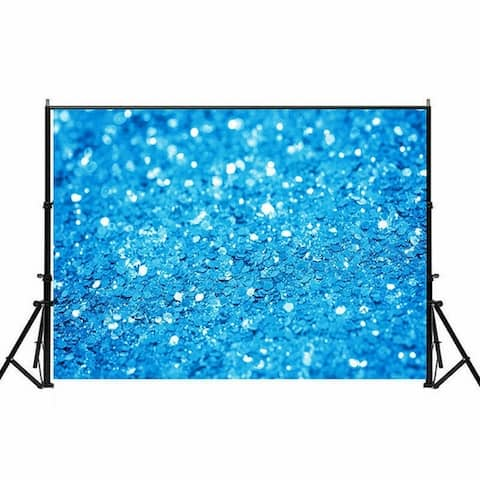Photography Backdrop Studio Photo Prop 5' x 7' Blue Glitter Sequin 10