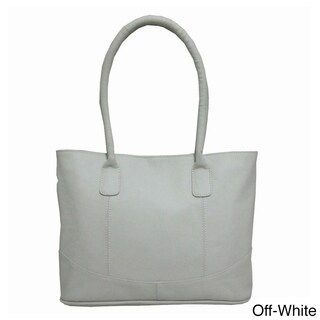 Amerileather Casual Leather Handbag (Option: Off-white)