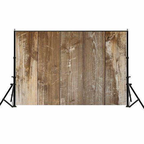 Photography Backdrop Studio Photo Prop 5' x 7' Camel Faded Plank