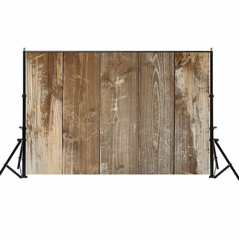 Photography Backdrop Studio Photo Prop 5' x 7' Camel Faded Plank