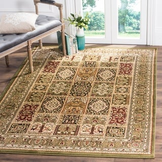 Safavieh Lyndhurst Traditional Oriental Green/ Multi Rug (8' x 11')
