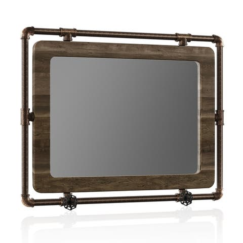 Clarmonte Industrial Accent Wall Mirror