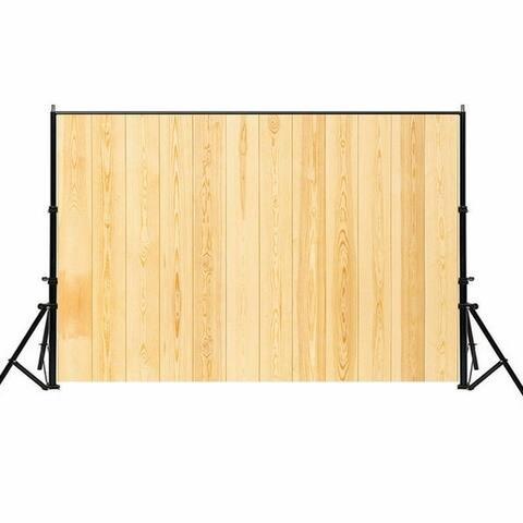 Photography Backdrop Studio Photo Prop 5' x 7' Bright Beige Wood Grain
