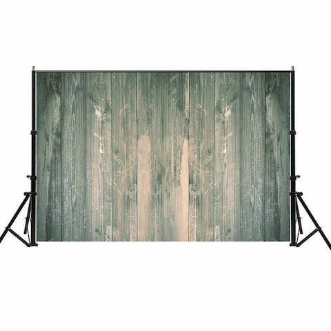 Photography Backdrop Studio Photo Prop 5' x 7' Lake Green Old Plank