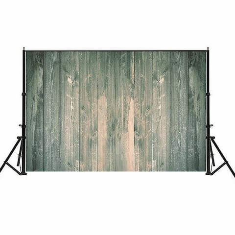 Photography Backdrop Studio Photo Prop 5' x 7' Lake Green Old Plank