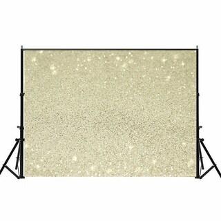 Photography Backdrop Studio Photo Prop 5' x 7' Beige Star Glitter 13