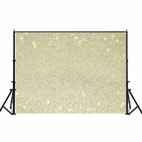 Photography Backdrop Studio Photo Prop 5' x 7' Beige Star Glitter 13